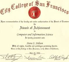steve stilson s main page four certificates in computer programming including c java and unix from city college of san francisco also achieved associate of science