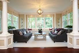 sligh furniture living room traditional with beige rug beige valance beige wall built in bench built blue home office dark wood