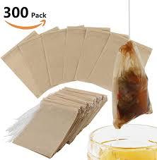 300PCS Tea Filter Bags, Disposable Paper Tea Bag ... - Amazon.com