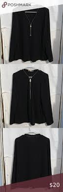 Michael Kors Half <b>Zip</b> Top. Size Medium. Black. Excellent Condition ...