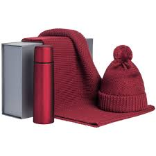 <b>Набор Warmer Brothers</b>, красный с нанесением логотипа в СПб ...