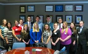 students chosen for internships in frankfort