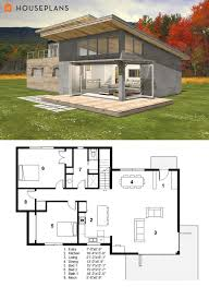 ideas about Small Modern Houses on Pinterest   Small Modern    Small Modern cabin house plan by FreeGreen