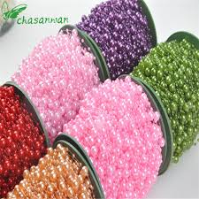 NEW <b>5 Meters Fishing Line</b> Artificial Pearls Beads Chain Garland ...