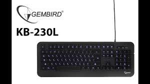 Обзор клавиатуры с подсветкой <b>Gembird</b> KB-230L - YouTube