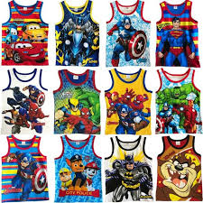 <b>High quality</b> Boy Cotton Sando <b>Character</b> Vest for Kids Marvel ...