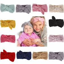 <b>Cute</b> Baby Crochet <b>Headband Bow</b> Knitted <b>Headbands Winter</b> Soft ...