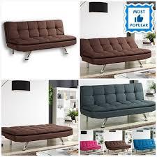 Fabric <b>Sofa</b> Bed <b>Faux</b> Leather 3 Padded <b>Seater Sofa</b> Living Room ...