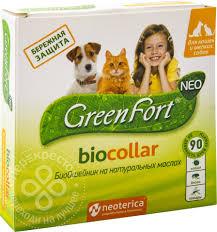<b>Биоошейник</b> для животных <b>GreenFort NEO</b> BioCollar 40см ...