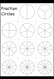 fraction circles template printable fraction circles  fraction circles fraction circles template printable fraction circles