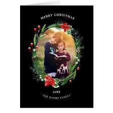 #<b>Christmas Garland</b> Pines Berries Juniper <b>Floral</b> Card - #<b>Xmas</b> ...