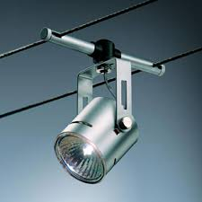 bruck lighting systems high line rony matte chrome cable track head cable lighting fixtures