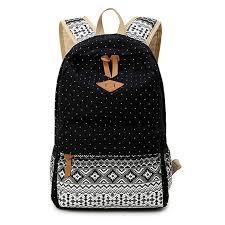 Korean Canvas Printing <b>Backpack Women School Bags</b> for ...