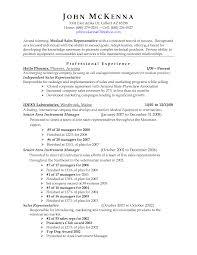 Free Medical Sales Job Resumes   SinglePageResume com   claims representative resume