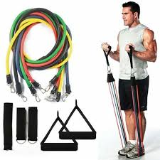 <b>11pcs</b> / <b>Set</b> Natural Rubber Latex Fitness <b>Resistance Bands</b> ...