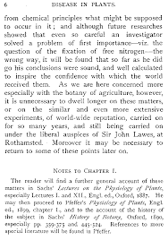 disease in plants by h marshall ward and although future researches showed that even so careful an investigator solved a problem of first importance viz the question of the fixation