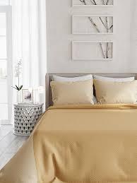 Купить покрывало «<b>Фонти</b> (<b>бежево-золотой</b>)» бежевый, желтый ...