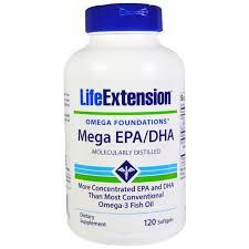 Рыбий жир EPA DHA, <b>Omega</b> Foundations, Life Extension, 120 ...
