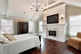 big master bedrooms couch bedroom fireplace: master bedroom in luxury home with marble fireplace