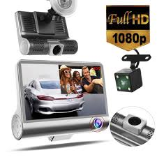 """360° <b>3 Lens</b> 4.0"""" LCD Night vision Full HD 1080P Dual Camera <b>Car</b> ..."""