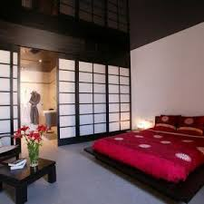 oriental style bedroom red bed