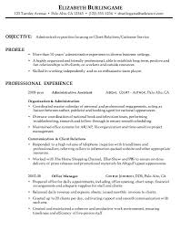 combination resume sample  administrative  customer servicecombination resume sample administrative client relations
