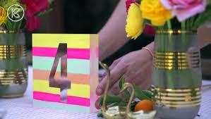 DIY WEDDING <b>TABLE NUMBERS</b> (OH JOY! WEDDINGS) - video ...
