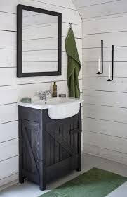 decoration bathroom sinks ideas: diy bathroom vanity design ideas for small spaces with rustic black polished wood shaker cabinet mixed