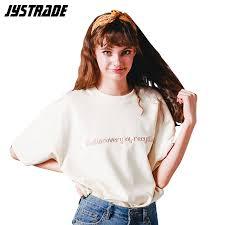 ladies off white t shirt women short sleeve tshirts girl's hip hop t-shirt ...