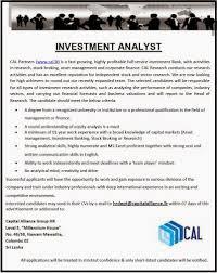 sri lanka vacancies latest vacancies career opportunities capital alliance group hr level 5 millennium house no 46 58 nawam mawatha colombo 02