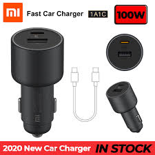 2020 New Original <b>Xiaomi 100W Car</b> Charger Dual USB Quick ...