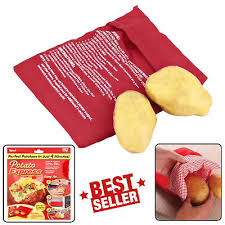 <b>1Pc</b> Reusable <b>Potato Microwave</b> Cooker <b>Bag</b> 4 Minutes Express ...