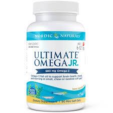 Nordic Naturals 680 mg, 90 ct, <b>Ultimate Omega Junior</b> Softgels ...