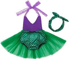 Mulfei Little <b>Girls Tutu Dress</b> Swimmable Mermaid <b>Princess</b> Bikini