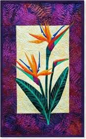<b>Zebra</b> Patterns Bird of Paradise Tropical <b>Flower</b> Applique Quilt Pattern
