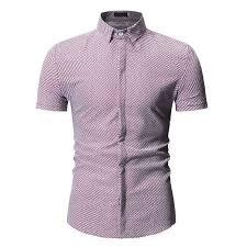 Printed <b>Shirt</b> Summer <b>Mens</b> Casual <b>Fine</b>-grain Short-sleeved <b>Shirt</b> ...