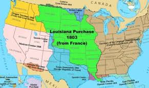 Image result for 1803 - The U.S. purchased the Louisiana Territory from France for $15 million.