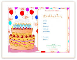 Free Birthday Party Invitation Templates | Kids Birthday ... Birthday cake Free Birthday Party Invitation Templates