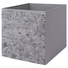 DRÖNA <b>Box</b> - grey <b>concrete</b> effect/grey - IKEA