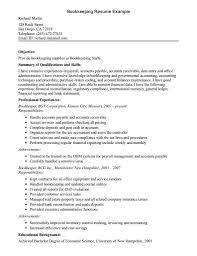 astounding entry level bookkeeper resume sample bookkeeping exquisite resume example bookkeeper sample