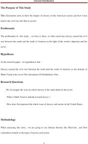 slavery in mark twain the adventures of huckleberry finn pdf hypotheses in this research paper we hypothesize that slavery caused the civil war between