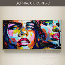 <b>Artist Hand painted Top Quality</b> Abstract Double Faces Oil Painting ...