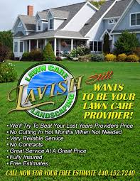 lavish landscaping fliers contact info company lavish lawncare landscaping