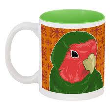 """Кружка цветная внутри """"Tea Time"""" #434504 от Алиса Арифулина ..."""