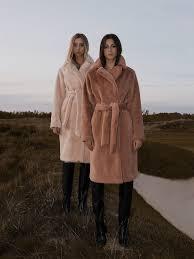 Wrap style faux coat - Lichi