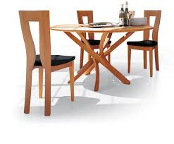 modern wood dining room sets: the pentagon modern dining table from seltz
