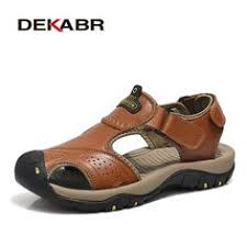 DEKABR <b>Mens Sandals</b> Genuine Leather Summer 2019 Brand <b>New</b> ...