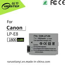 China 1800mAh Digital Camera Battery for <b>Canon Lp-E8</b> Lpe8 ...
