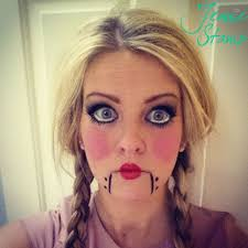 doll make up can open her mouth round cheeks and big eyes doll makeup creepy dolls and dolls
