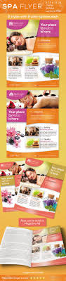 spa flyers print ad by ingridk graphicriver spa flyers print ad commerce flyers